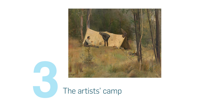 The artists' camp
