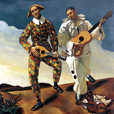 André Derain - Harlequin and Pierrot