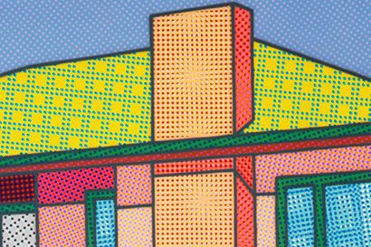 Howard Arkley, Actual Fractual, 1994 (detail). Private collection. © The Estate of Howard Arkley, courtesy Kalli Rolfe Contemporary Art.