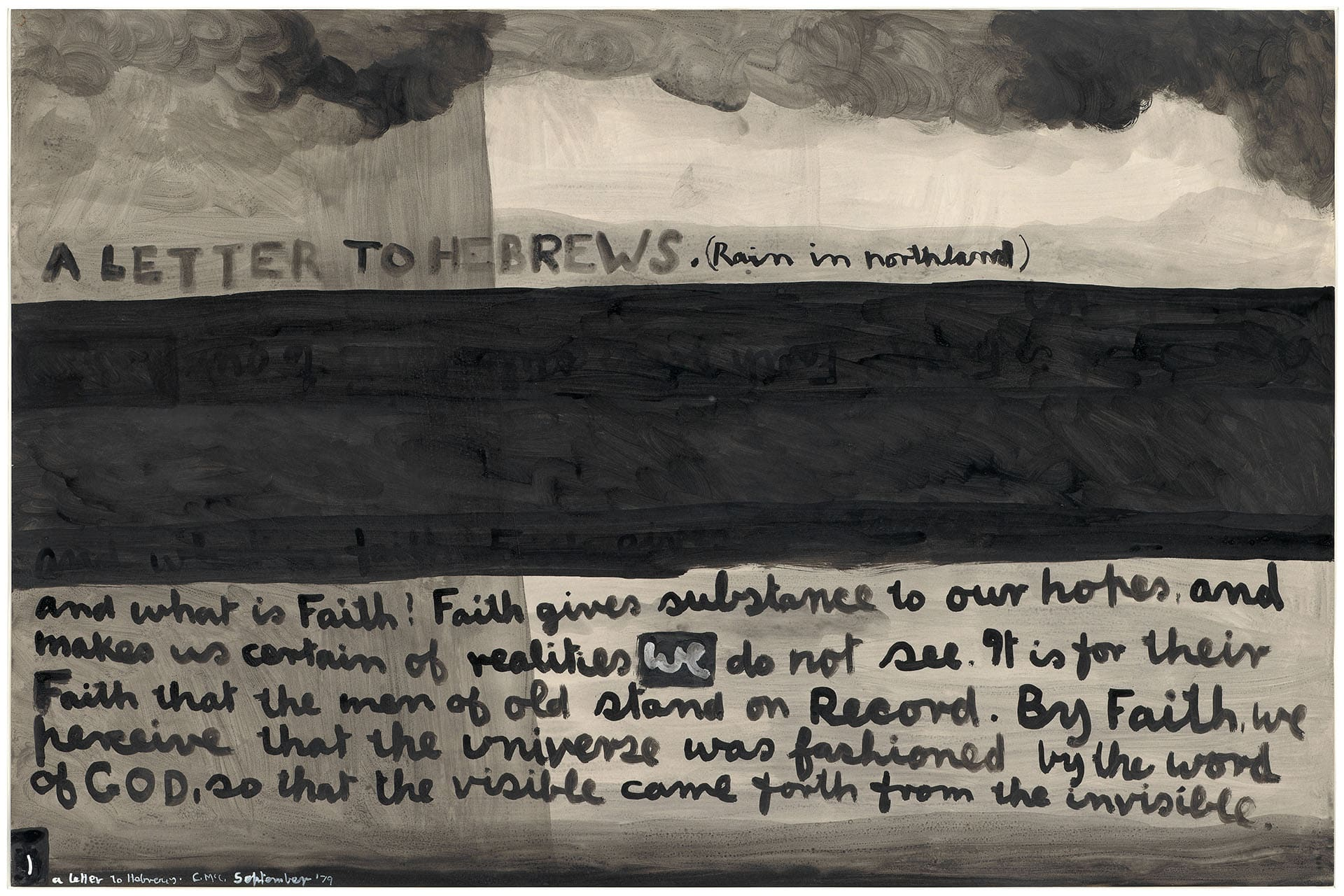 Colin McCahon: Letters and Numbers
