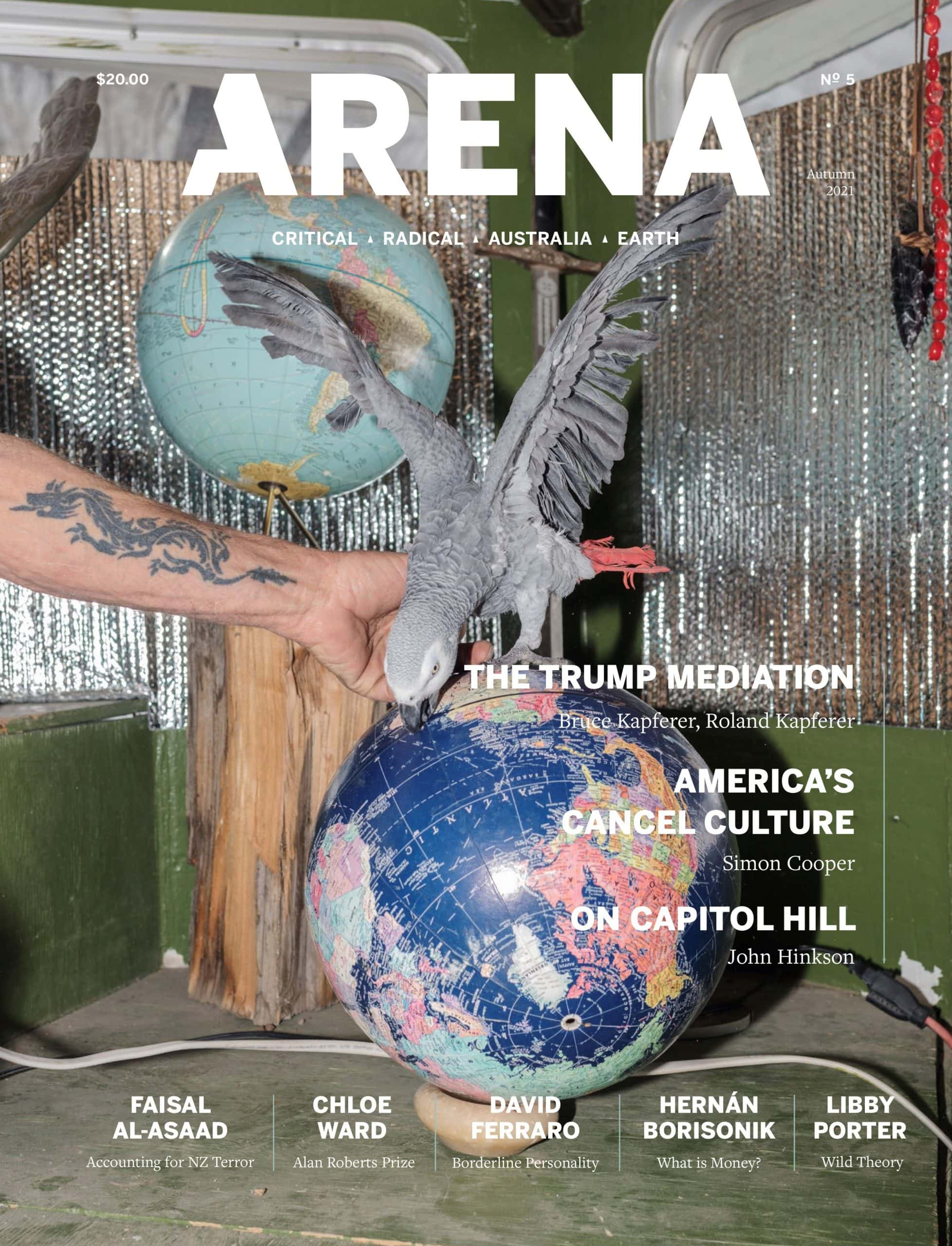 Arena Issue 5 cover, image courtesy of Arena
