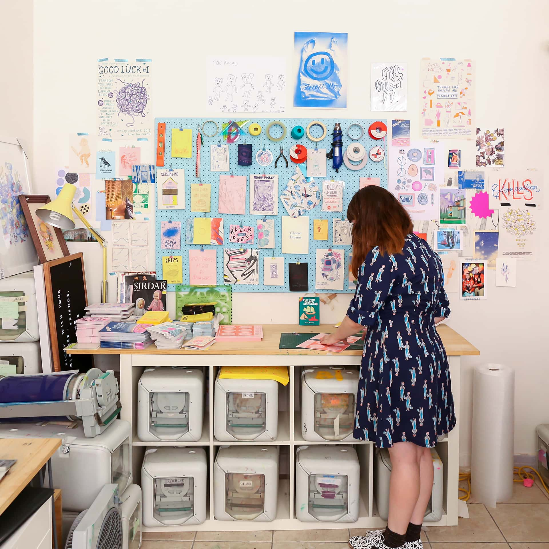Ashley working in her studio. Photo by Tatanja Ross.