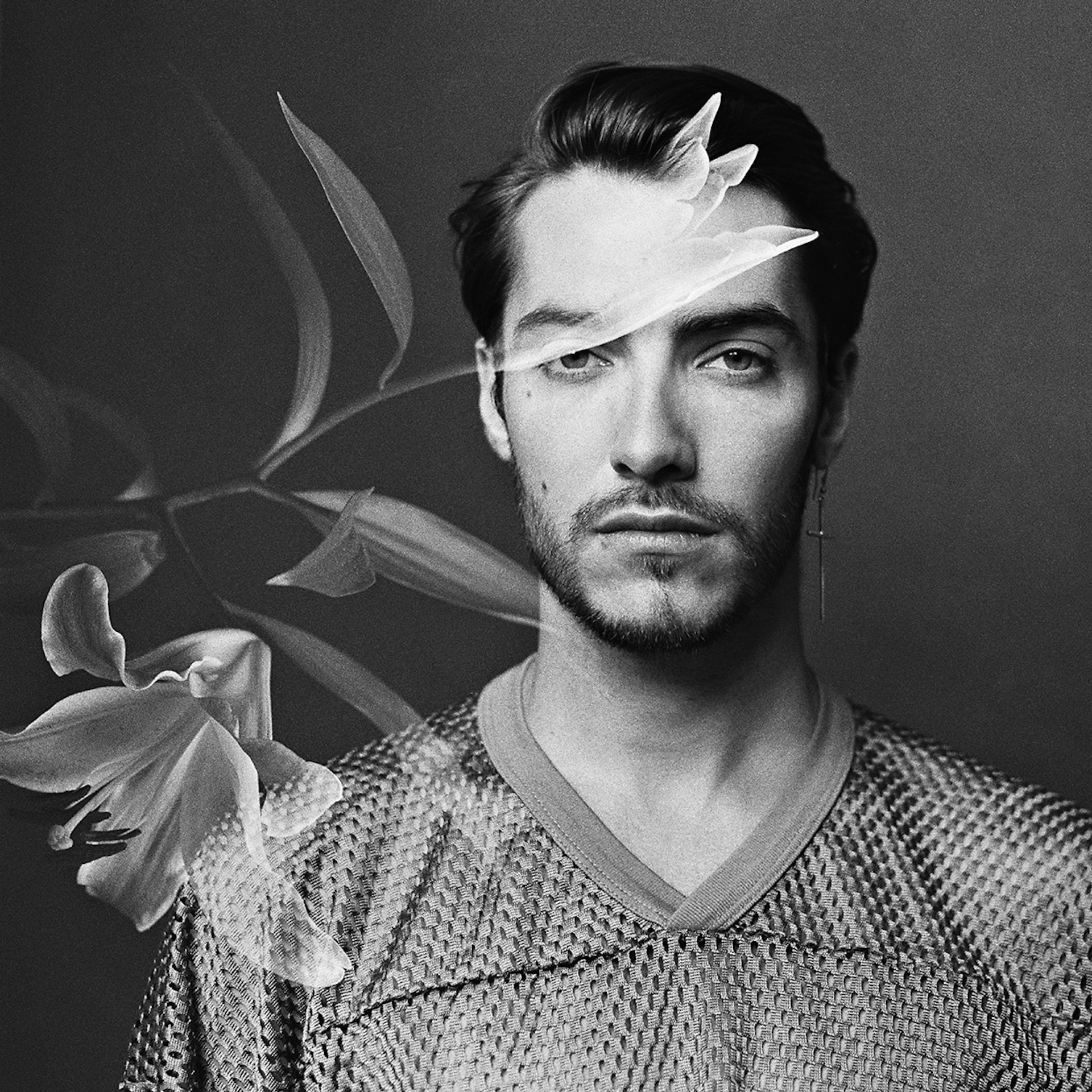 David Rosetzky, 'Kazim with Lilies', 2017, from 'David Rosetzky: Double Exposures' (M.33, 2021)