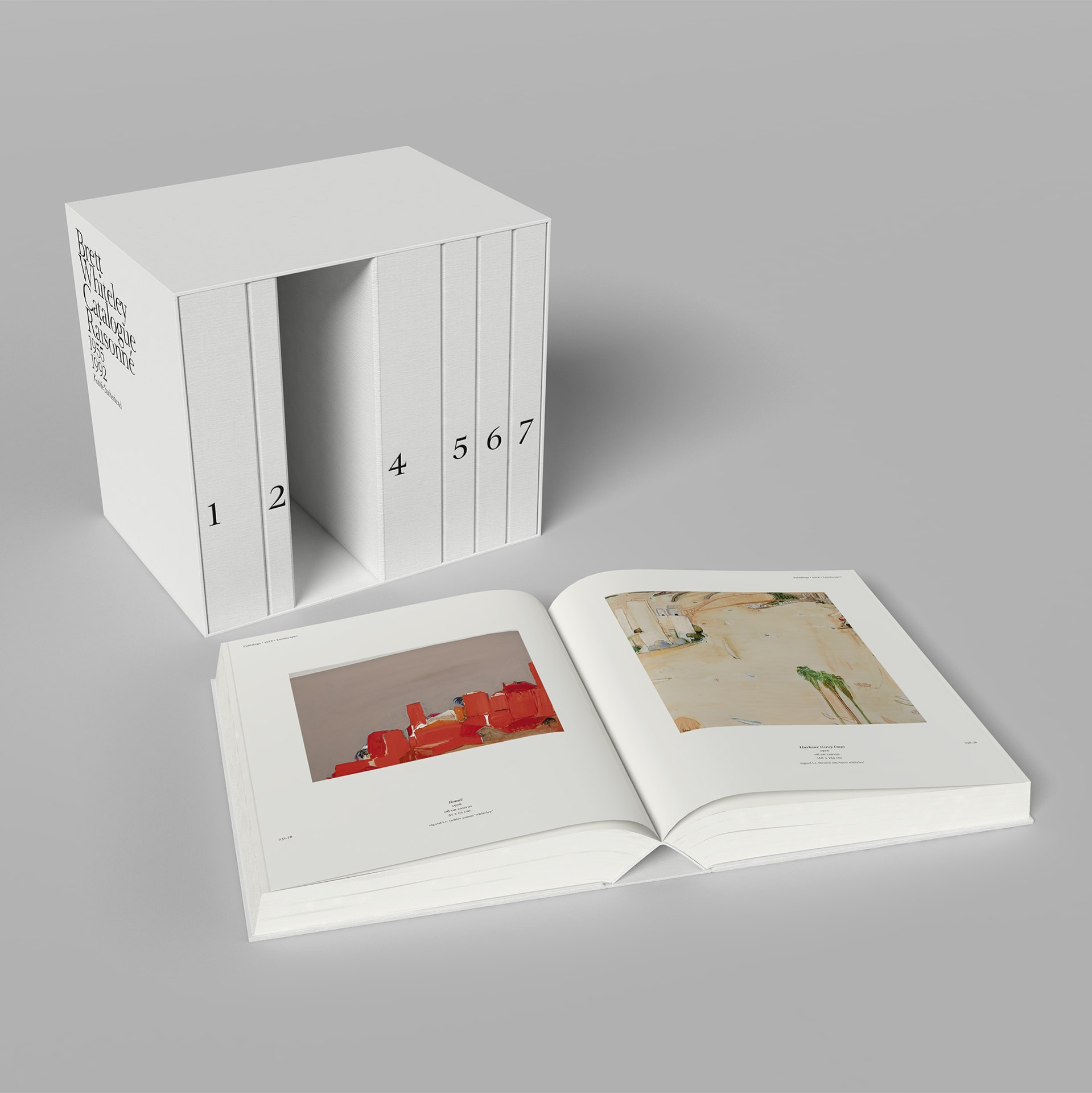 Photo: Brett Whiteley: Catalogue Raisonné: 1955–1992, edited by Kathie Sutherland, individually numbered box set of 7 books, 25 kgs, 3000 pp, limited release of 1000 copies. Courtesy of Schwartz City
